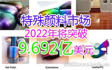 特殊颜料市场2022年将突破9.692亿美元